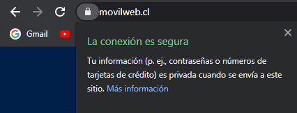 certificado ssl movilweb