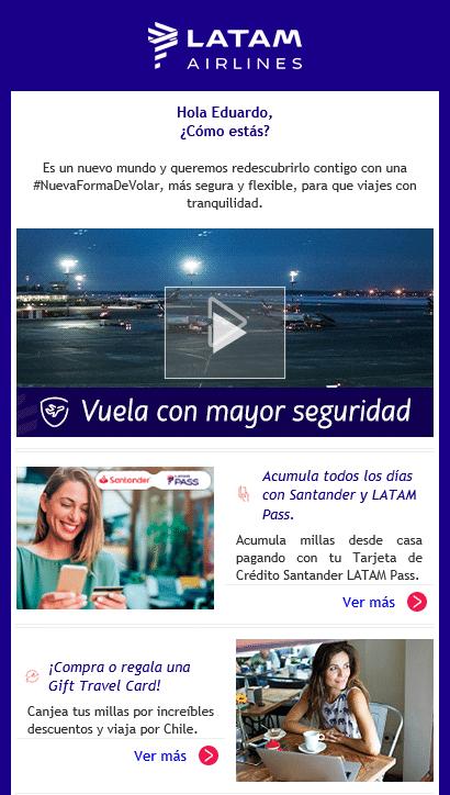 ejemplo de correo newsletter