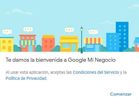 Google mi negocio bienvenida