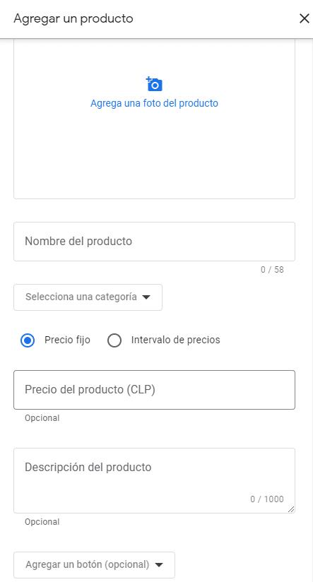 Google mi negocio agregar un producto o servicio