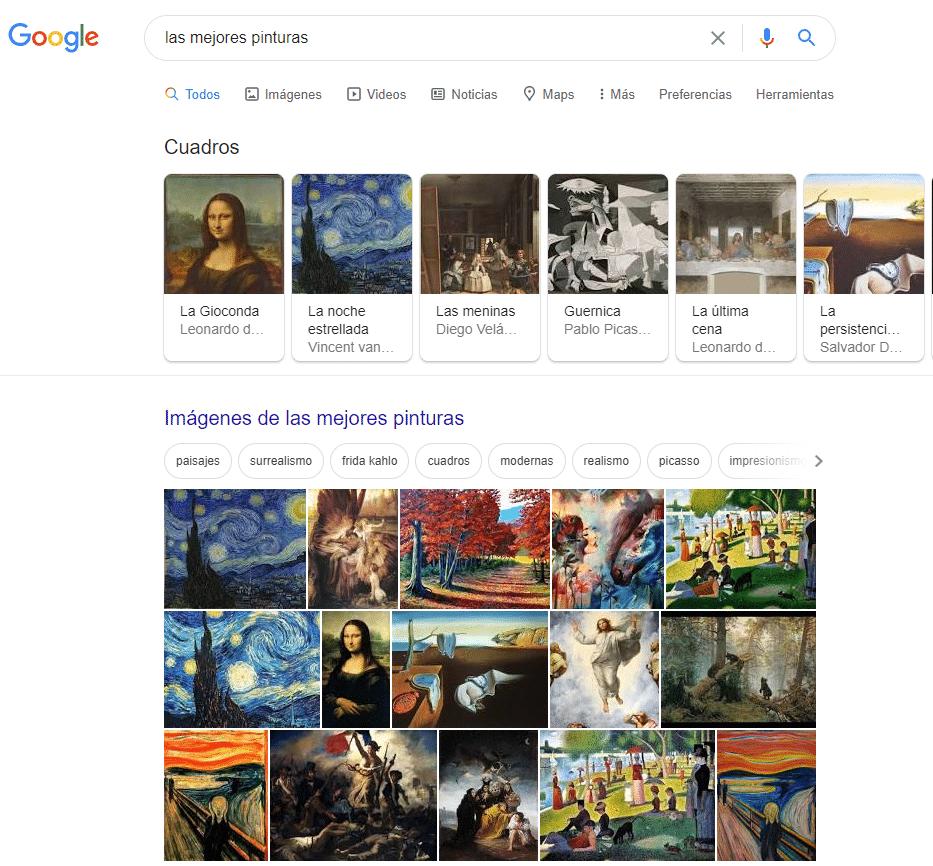 intencion de busqueda pinturas